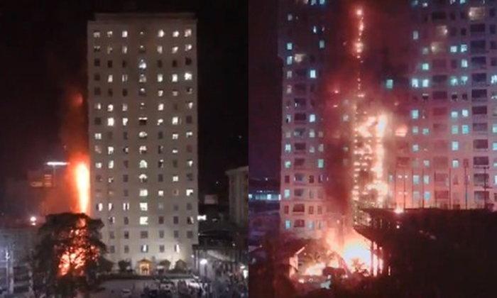 ระทึก! ไฟไหม้คาสิโนสูง 18 ชั้น ที่ฝั่งปอยเปต กัมพูชา